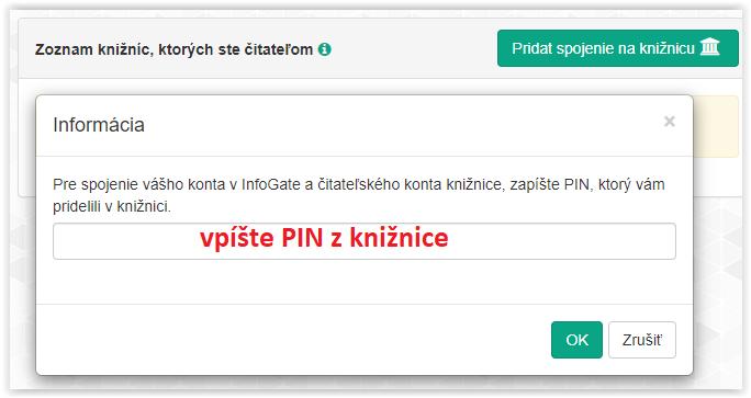 Vpíšte PIN